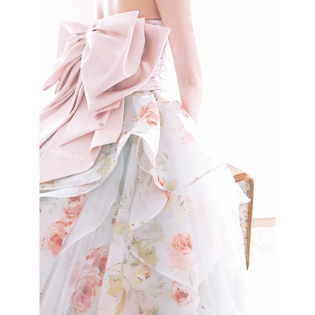 925dec78d2870 人気カラードレス、大人可愛いフラワープリント、発表会カクテルドレスが安い